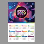 2019年抽象日历