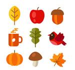 彩色秋季元素