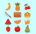 水果和榨汁工具