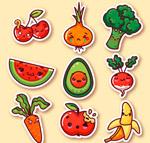 蔬菜水果表情贴纸