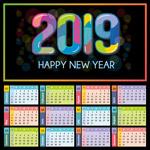 2019年彩色日历