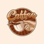 咖啡徽标矢量