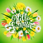 你好夏季花束