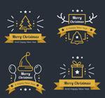 圣诞节丝带标签