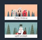 圣诞雪景banner