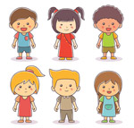 可爱笑脸儿童