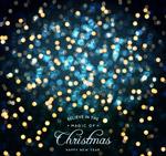 圣诞新年光晕贺卡