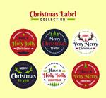 圆形圣诞节标签