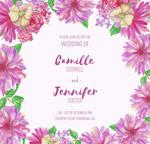 花卉框架婚礼海报