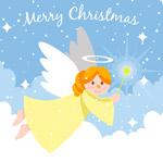 云中的圣诞天使