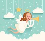 白色圣诞天使