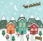 圣诞小城风景