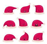 可爱表情圣诞帽