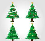 绿色圣诞树矢量