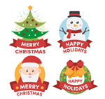 可爱圣诞节标签