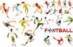 足球运动人物插画