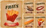 腊肠薯条食品海报