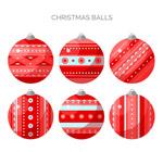 花纹圣诞吊球