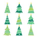 清新绿色圣诞树
