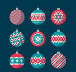 复古花纹圣诞吊球