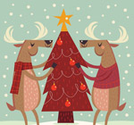 圣诞驯鹿装饰