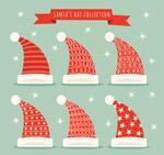 红色花纹圣诞帽