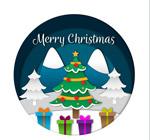 圣诞树和礼盒矢量