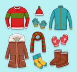 冬季服装和配饰