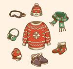 冬季花纹服饰套装