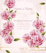 水彩玫瑰婚礼请柬