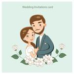 浪漫婚礼邀请卡