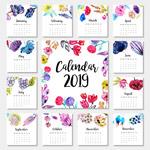 2019水彩植物年历