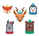 冬季围巾动物头像