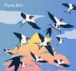 飞翔的燕子群
