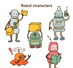 工作中的机器人