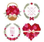 情人节花卉元素