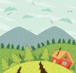 创意地震灾害插画