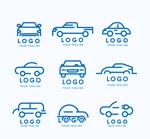 蓝色车元素标志