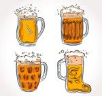 手绘杯装啤酒