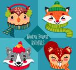冬季森林动物头像