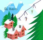 彩绘雪山滑雪场