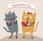 情人节猫咪情侣