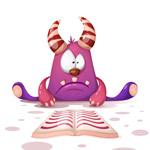 可爱读书的怪物