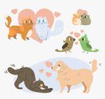 创意动物情侣