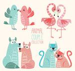 彩绘动物情侣