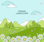 草地花丛风景