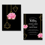 花朵婚礼邀请函