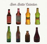 手绘瓶装啤酒