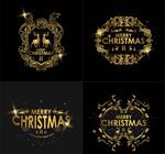 圣诞节金色边框