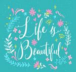 美丽人生艺术字